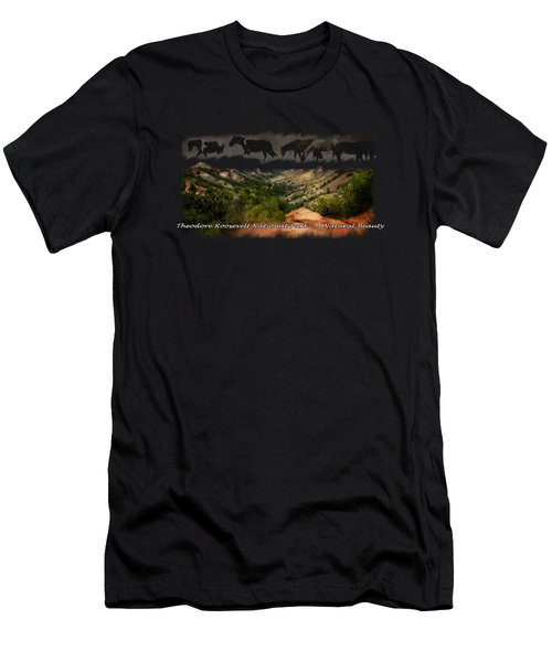 Theodore Roosevelt National Park Men's T-Shirt (Athletic Fit)