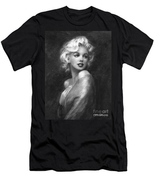 Theo's Marilyn Ww Bw Men's T-Shirt (Athletic Fit)