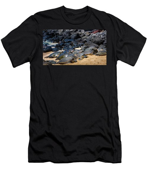 Men's T-Shirt (Athletic Fit) featuring the photograph There Has Got To Be More Room On This Beach  by Jim Thompson