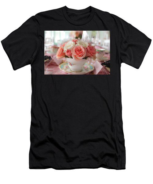 Teacup Roses Men's T-Shirt (Athletic Fit)