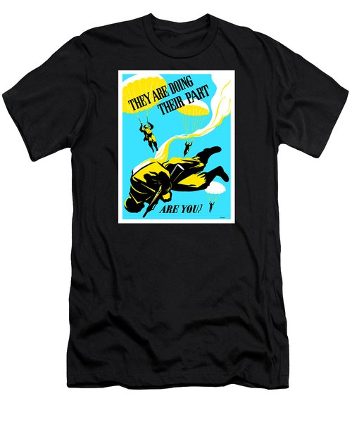 Men's T-Shirt (Slim Fit) featuring the painting They Are Doing Their Part - Are You by War Is Hell Store