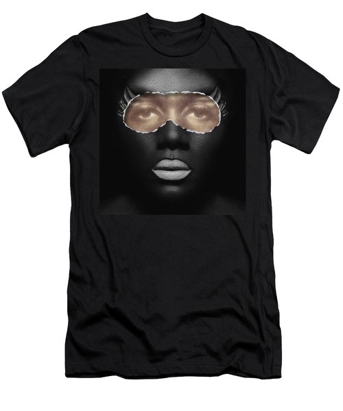 Thin Skinned Black Men's T-Shirt (Slim Fit) by ISAW Gallery