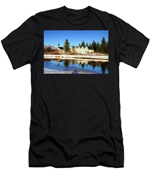 Thingvellir Iceland  Men's T-Shirt (Slim Fit) by Matthias Hauser