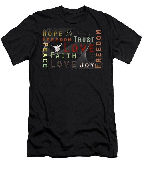 Think Positive Men's T-Shirt (Athletic Fit)