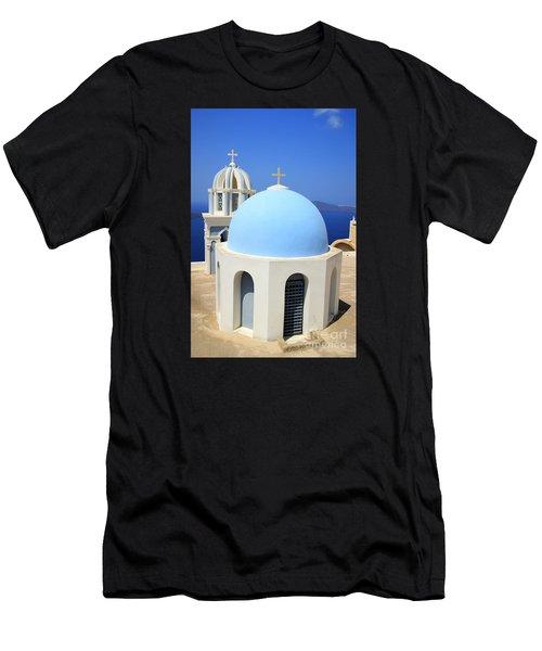 Thira Chapel Men's T-Shirt (Athletic Fit)
