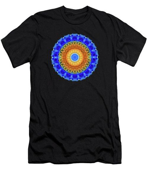Third Eye Mandala Art By Sharon Cummings Men's T-Shirt (Athletic Fit)