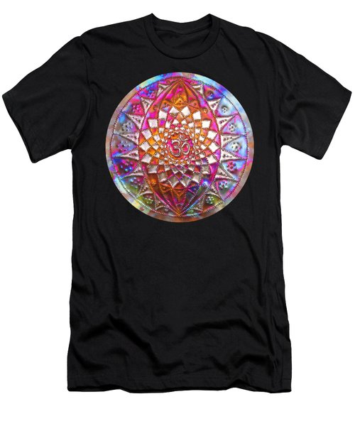 Men's T-Shirt (Athletic Fit) featuring the sculpture Third Up Kupfer Lichtmandala by Robert Thalmeier