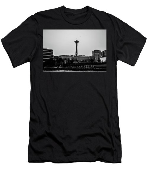 This Is Seattle Black And White Men's T-Shirt (Athletic Fit)