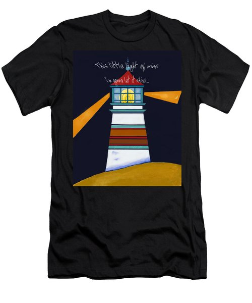 This Little Light Of Mine Men's T-Shirt (Slim Fit) by Glenna McRae