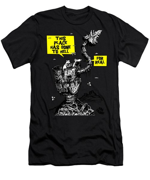 This Place Has Gone To Hell Men's T-Shirt (Athletic Fit)