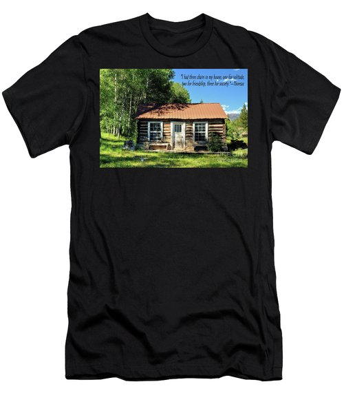 Thoreau--three Chairs Men's T-Shirt (Athletic Fit)