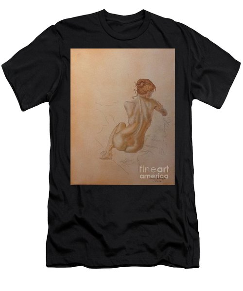 Thoughtful Nude Lady Men's T-Shirt (Athletic Fit)