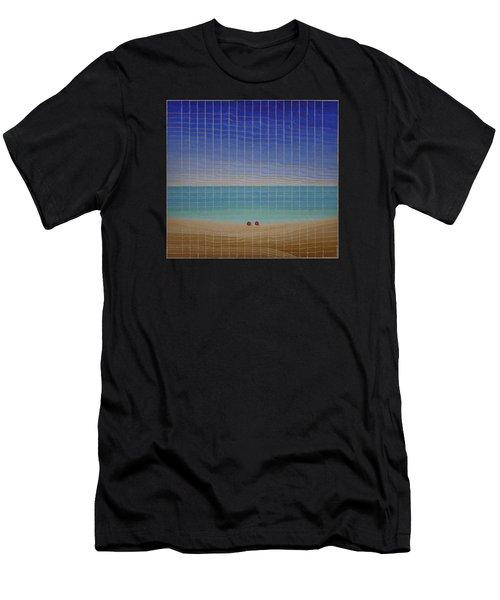 Three Beach Umbrellas Men's T-Shirt (Athletic Fit)