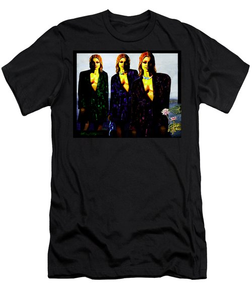 Three  Beautiful Triplet Ladies Men's T-Shirt (Athletic Fit)