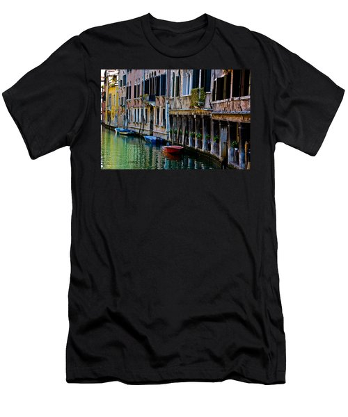 Three Boats Men's T-Shirt (Slim Fit) by Harry Spitz