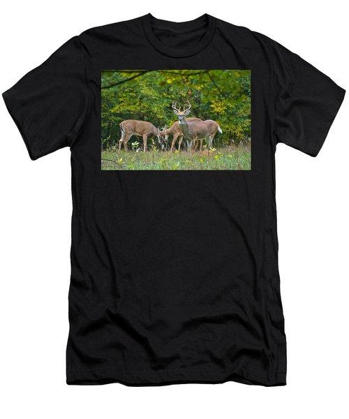 Three Bucks_0054_4463 Men's T-Shirt (Athletic Fit)