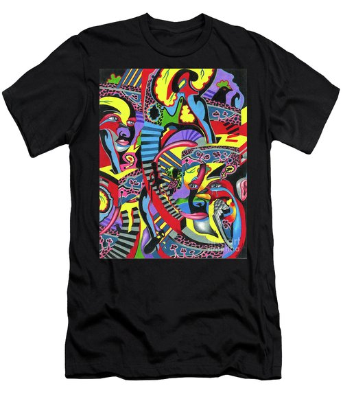 Three Disguises Of An Abstract Thought Men's T-Shirt (Athletic Fit)