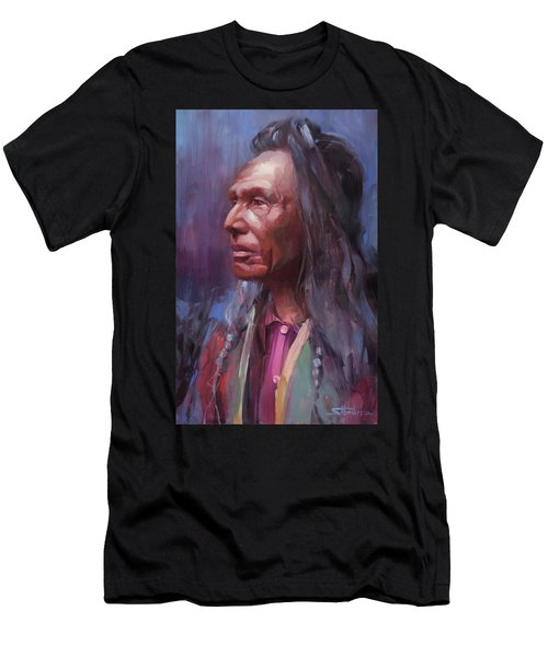 Men's T-Shirt (Athletic Fit) featuring the painting Three Eagles by Steve Henderson