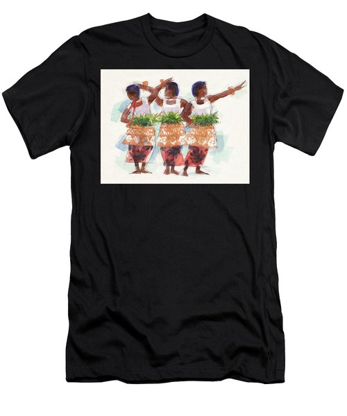 Three Fijian Dancers Men's T-Shirt (Athletic Fit)