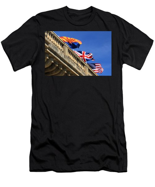 Three Flags At London Bridge Men's T-Shirt (Athletic Fit)