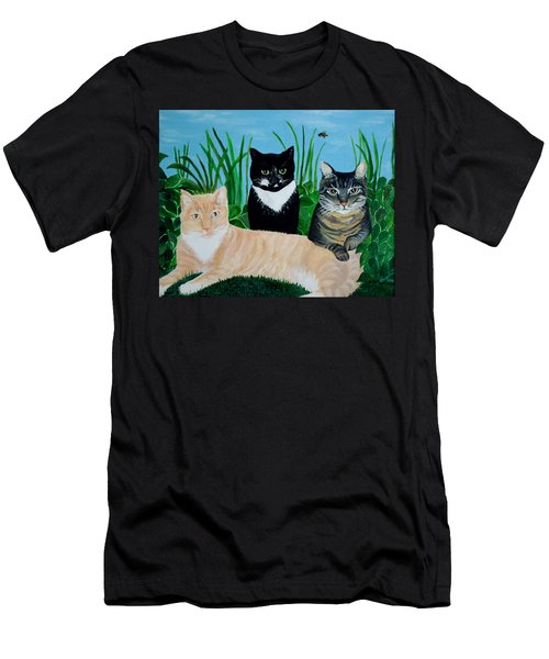 Three Furry Friends Men's T-Shirt (Athletic Fit)
