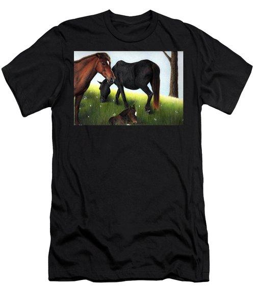 Three Horses Men's T-Shirt (Athletic Fit)