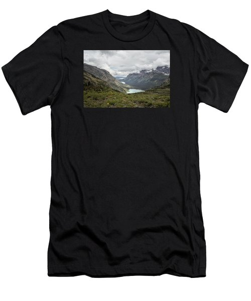 Three Lakes Viewed From Grinnell Glacier Men's T-Shirt (Athletic Fit)