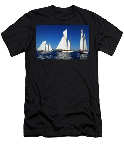 Three Schooners Men's T-Shirt (Athletic Fit)