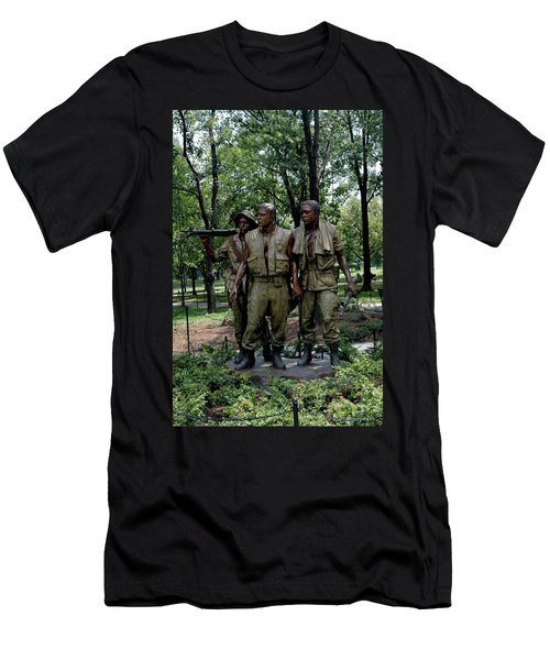 Three Servicemen Men's T-Shirt (Athletic Fit)