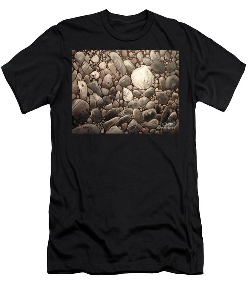 Three Shells Men's T-Shirt (Slim Fit) by Mary Hubley