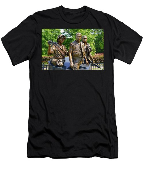 Three Soldiers Monument Men's T-Shirt (Athletic Fit)