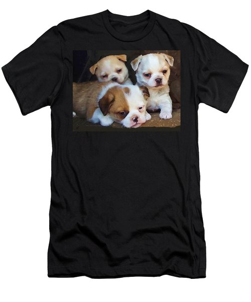 Men's T-Shirt (Athletic Fit) featuring the digital art Three Sweeties by Shelli Fitzpatrick