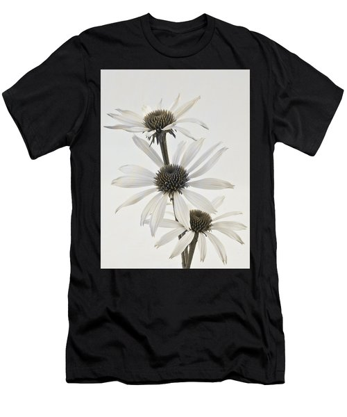 Three White Coneflowers Men's T-Shirt (Athletic Fit)