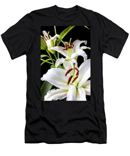 Three White Lilies Men's T-Shirt (Athletic Fit)
