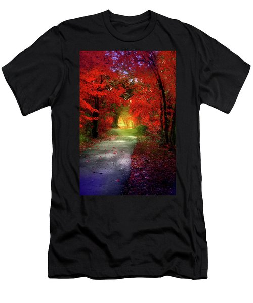 Through The Crimson Leaves To A Golden Beginning Men's T-Shirt (Athletic Fit)