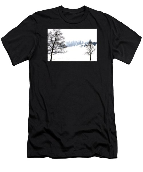 Through The Falling Snow Men's T-Shirt (Athletic Fit)