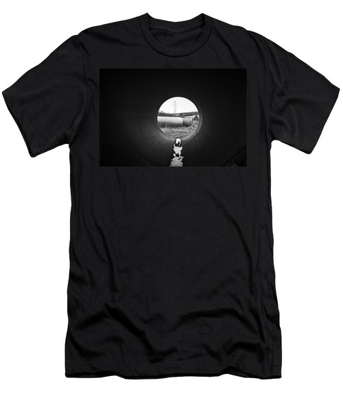 Men's T-Shirt (Slim Fit) featuring the photograph Through The Pipe by Keith Elliott