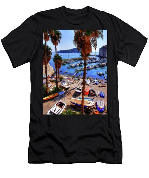Through The Trees Dubrovnik Harbour Men's T-Shirt (Athletic Fit)