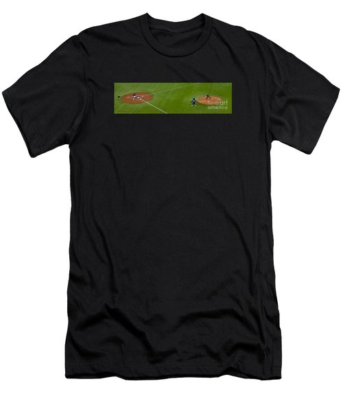 Throwing The First Pitch Men's T-Shirt (Athletic Fit)