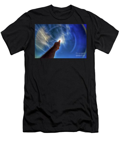 Thumb To The Sky Men's T-Shirt (Athletic Fit)