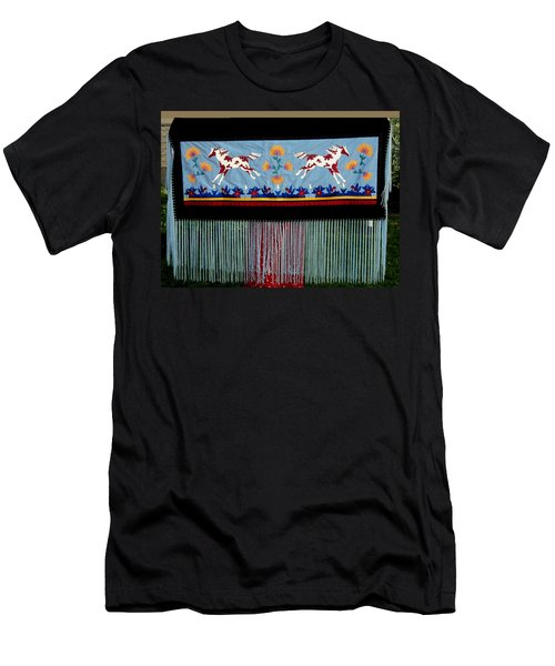 Men's T-Shirt (Athletic Fit) featuring the tapestry - textile Thunder Pony by Chholing Taha