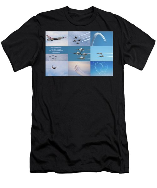 Men's T-Shirt (Athletic Fit) featuring the photograph Thunderbird Compilation by Dan McManus