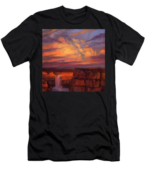 Men's T-Shirt (Athletic Fit) featuring the painting Thundercloud Over The Palouse by Steve Henderson