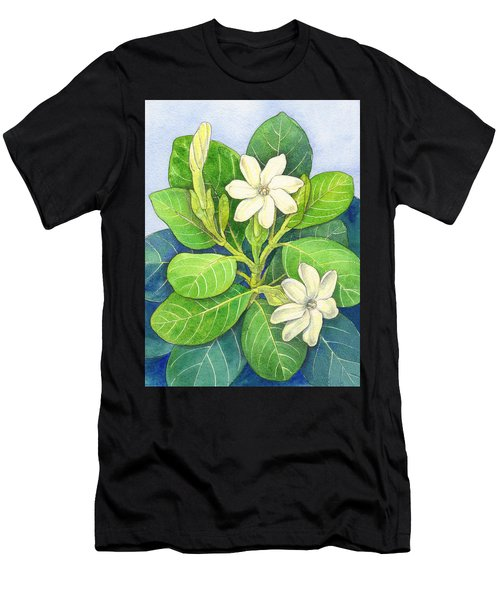Men's T-Shirt (Athletic Fit) featuring the painting Tiare Maori by Judith Kunzle