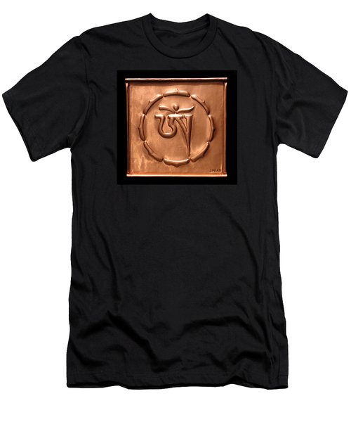Men's T-Shirt (Slim Fit) featuring the relief Tibetan Om by Suhas Tavkar