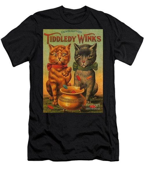 Tiddledy Winks Funny Victorian Cats Men's T-Shirt (Athletic Fit)