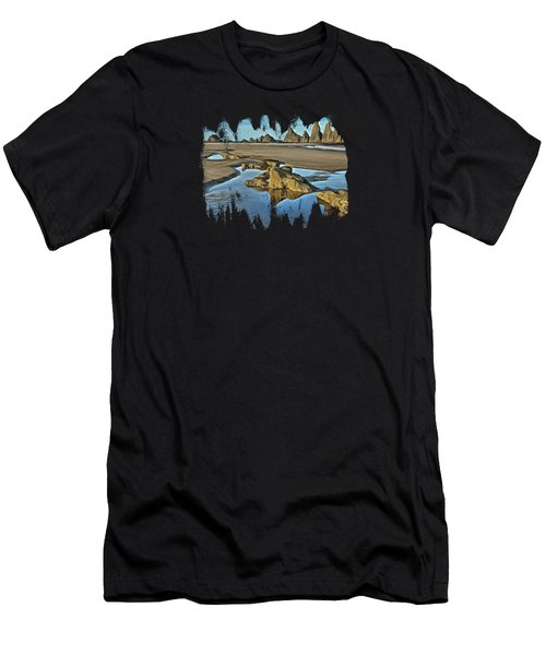 Tides Out At Seal Rock Beach Men's T-Shirt (Athletic Fit)
