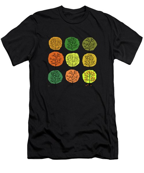 Tidy Trees All In Pretty Rows Men's T-Shirt (Athletic Fit)