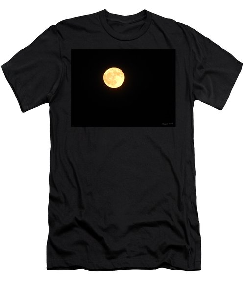 Tie Dyed Orange Moon Men's T-Shirt (Athletic Fit)