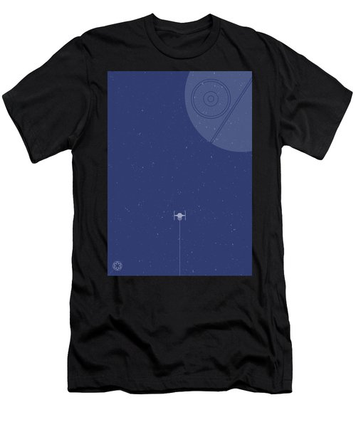 Tie Fighter Defends The Death Star Men's T-Shirt (Athletic Fit)